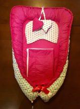 Pink csillagos babafészek