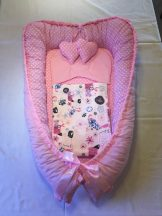 Pink kutyás babafészek