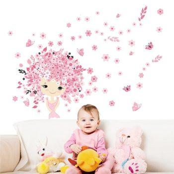 Rózsaszín álom falmatrica kislányszobába