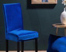 Rugalmas székhuzat bársonyos több színben