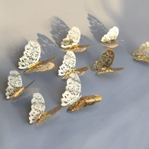 Dekorációs pillangó arany és ezüst színben Készletről azonnal