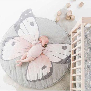 Pillangós játszó szőnyeg kör alakú készletről