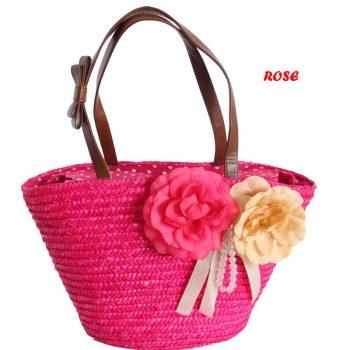 Pink színű, Női szalma válltáska Készletről azonnal