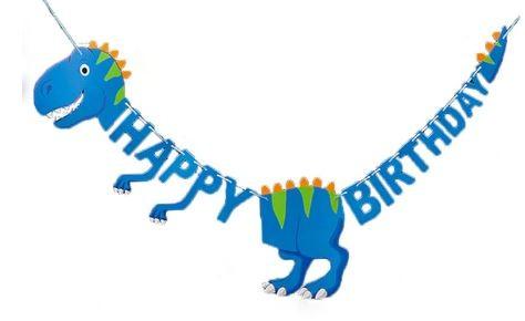 Kék dínós születésnapi zászlófűzér készletről