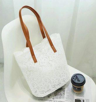 Gyönyörű csipke táska készletről