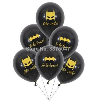 Dekorációs lufi Batman mintával fekete 12 db-os