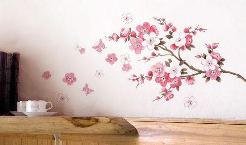 Virágos fali matrica készletről
