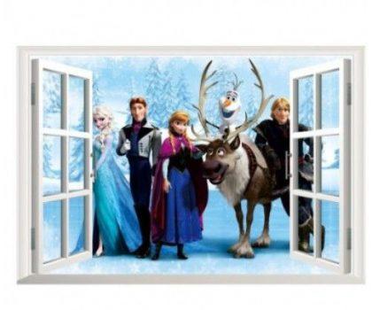 Elsa hókirálynő 3 D fali matrica Készletről