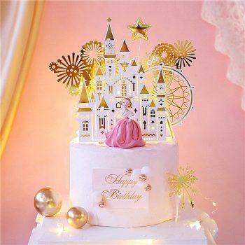 Fehér-arany kastély torta dekoráció Készletről