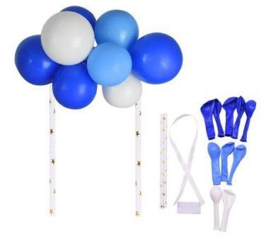 Dekorációs lufi kék-fehér színben 10 db-os Készleten