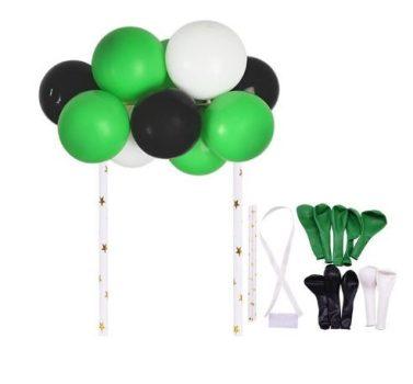Torta dekoráció--mini lufi zöld-fekete színben 10 db-os Készleten