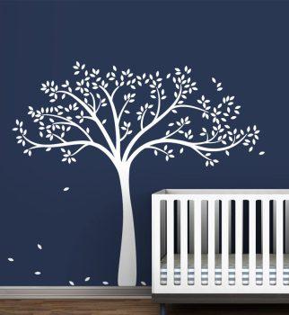 Nagy méretű fa dekor falmatrica Készleten