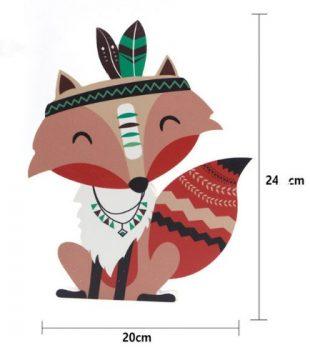 Egész alakos róka fa dekoráció Készleten