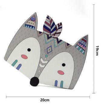 Farkas fej fa dekoráció készletről