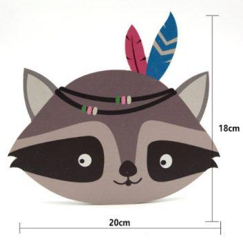 Mosó maci fej fa dekoráció készletről