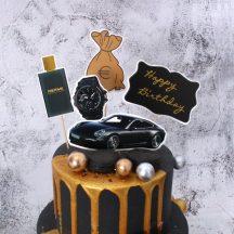 """""""Rich Dream """"Szülinapi torta dekoráció szett 5 db-os Készletről"""