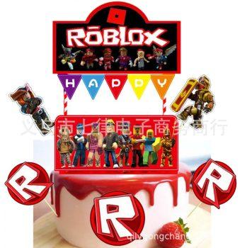 Roblox torta dekoráció 8 db-os készletről