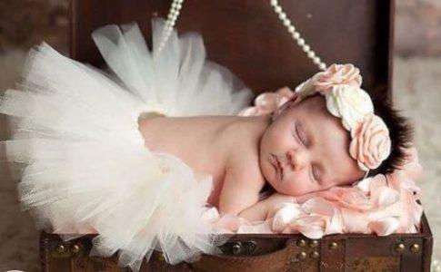 Baba Fotózás - Fehér rózsás Balerina szett készletről