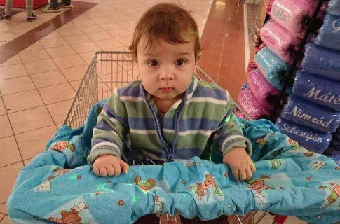 Bevásárlókocsi huzat / bevásárlókocsibetét gyerekeknek Készletről
