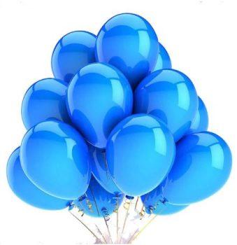 Kék színű metál lufi szett 10 db-os Készletről