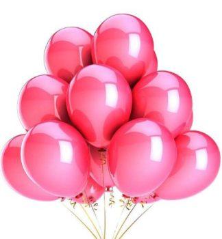Rózsaszín színű metál lufi szett 10 db-os Készletről
