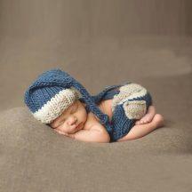 Baba Fotózás - Kék csíkos kismanó szett