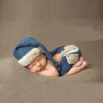Baba Fotózás - Kék csíkos kismanó szett Készletről