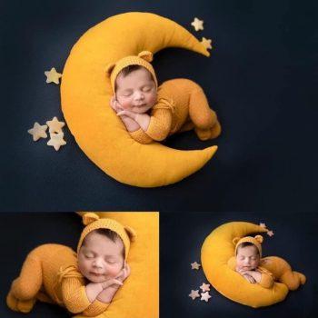Baba Fotózás - Sárga Hold párna sapkával