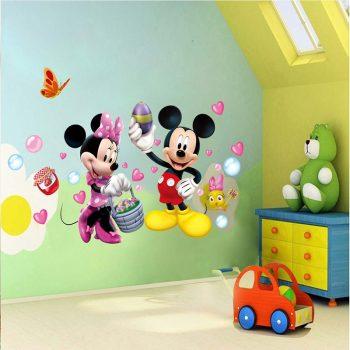Mickey és Minnie egér falmatrica készletről