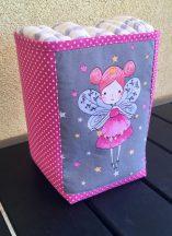 Asztali tároló, pelenkatartó babaszobába - Pink Tündér