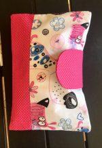 Pelenkázó neszeszer , pelenkázó táska- Pink kutyusok