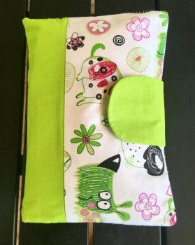 Pelenkázó neszeszer , pelenkázó táska- Zöld kutyusok
