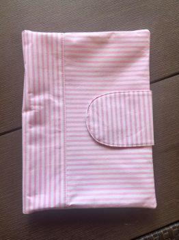 Pelenkázó neszeszer , pelenkázó táska- Rózsaszín -Fehér Csíkos