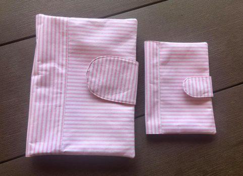 Babalátogató ajándék csomag-Rózsaszín csikos