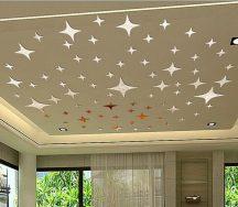 Ezüst csillag dekoráció tükröződő 50 db-os Készleten