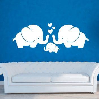 Elefánt család falmatrica Készletről azonnal