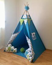 Türkiz csillag indián sátor gyerekeknek