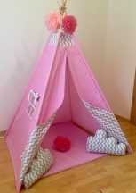Rózsaszín álom indián sátor gyerekeknek