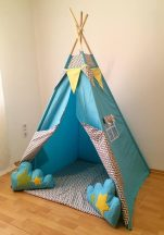 Égkék indián sátor gyerekeknek