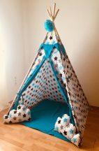 Óriás kék csillag indián sátor gyerekeknek
