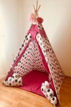 Óriás pink csillag indián sátor gyerekeknek