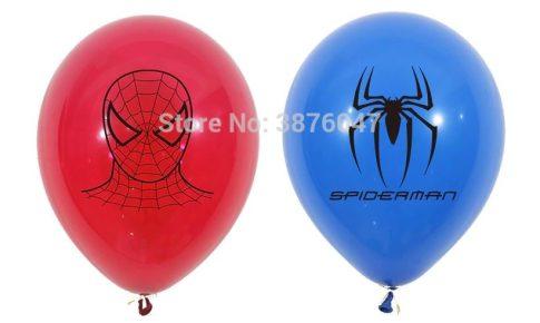 Pókember mintájú lufi 12 db-os készletről