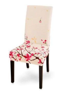 Rugalmas székhuzat krém alapon virágos Készleten