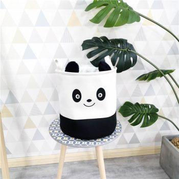Panda mintás játéktároló készletről