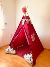 Pink kutyás indián sátor gyerekeknek