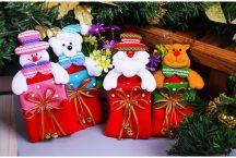 Karácsonyi mini ajándék táska, dekoráció Készletről