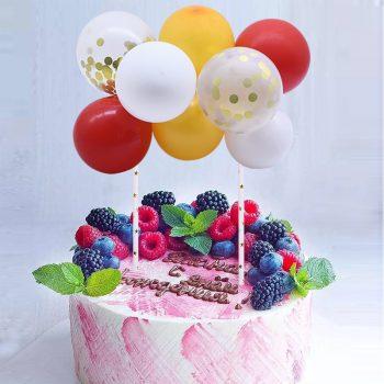 Torta dekoráció- mini lufi - extra színes