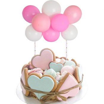 Torta dekoráció- mini lufi - rózsaszín készlet-készletről